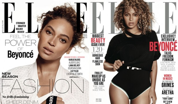 Duas das capas de Bey na revista. Ao todo serão divulgadas capas em 45 países.