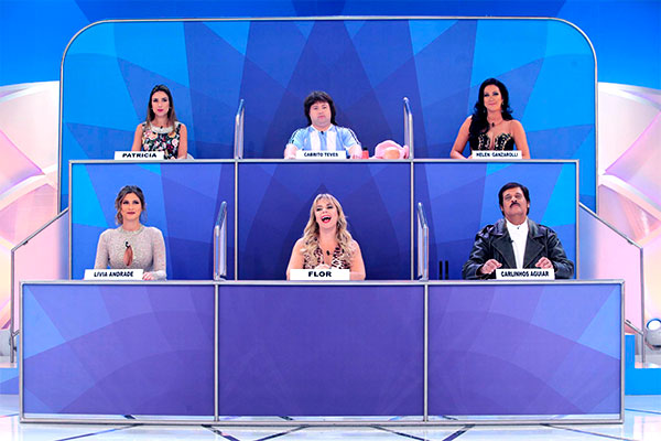 Os seis participantes do quadro...