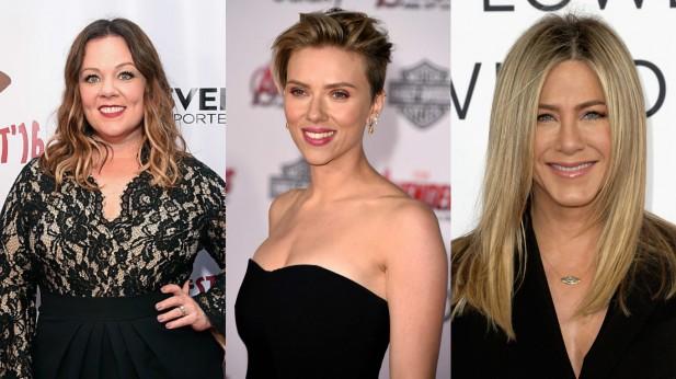 Melissa McCarthy, Scarlett Johansson e Jennifer Aniston aparecem na sequência da lista.